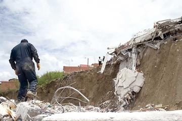 Un deslizamiento más en La Paz