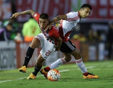 River y Sao Paulo  empatan 1-1 en el Monumental