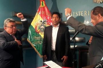 Romero posesiona a Rodolfo Illanes como nuevo Viceministro de Régimen Interior
