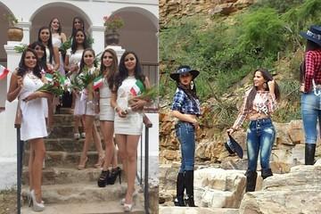 Candidatas a Miss Chuquisaca pasean por una hacienda y balneario en Presto