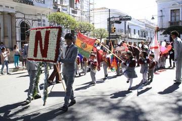 Unidad educativa Nazareno de fiesta por aniversario
