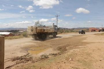 Diagonal: Vía calamitosa en plena zona urbana de Sucre