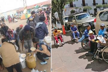 Temporal demora marcha de discapacitados a La Paz