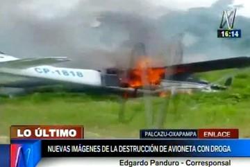 Policía peruana interviene avioneta boliviana con 70 kilos de droga