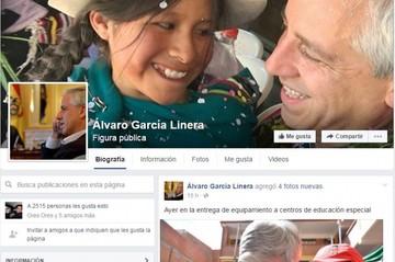 El vicepresidente Álvaro García Linera estrena su cuenta oficial en Facebook