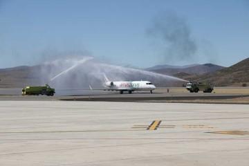 La inauguración del aeropuerto  Alcantarí se convierte en fiesta