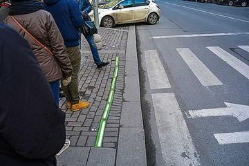 Unos semáforos en el suelo en Alemania para alertar a usuarios de celulares