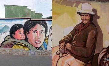 Pintan dos murales para educar sobre la violencia