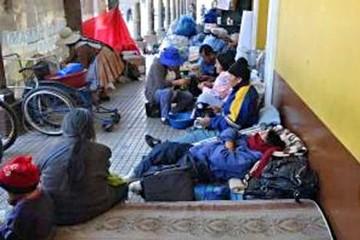 Cochabamba: Desalojan vigilia de discapacitados