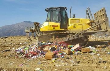 Destruyen y entierran productos decomisados por la fiesta de San Juan