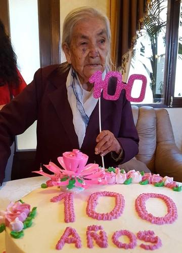Cumpleaños centenario de Trinidad Padilla