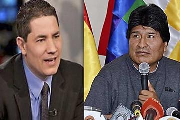 """Morales: Periodista de CNN es un """"delincuente"""""""