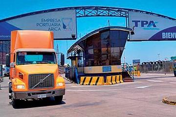 Transporte marcha contra atropellos en  los puertos chilenos
