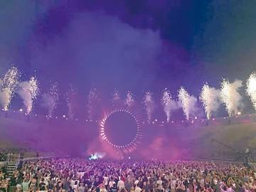 Gilmour vuelve a tocar su música en Pompeya