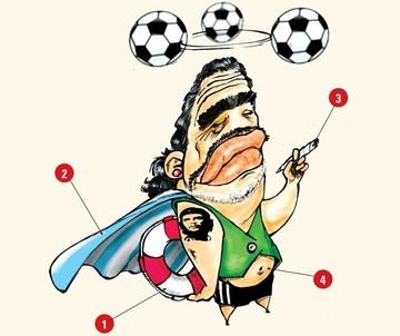 """El presidente de la federación de fútbol pide olvidarse del gran diego """"pelusa"""" Maradona, ese no va como d.d.t de la verde"""