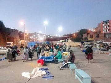 Feria en el Multipropósito  se instala en desorden