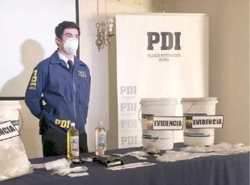 Chile: Caen dos bolivianos por laboratorio de droga