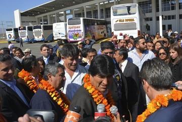 El poder político se concentra en Tarija en medio de protestas