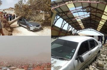 Fuertes vientos en Sucre provocan daños materiales y genera densa polvareda