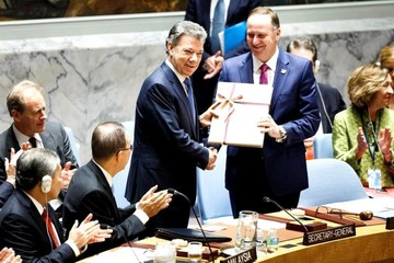 Santos entrega acuerdo de paz con las FARC al Consejo de Seguridad de la ONU
