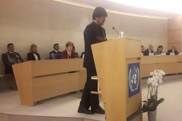 Evo denuncia ante la ONU violación de DDHH de los transportistas bolivianos en Chile