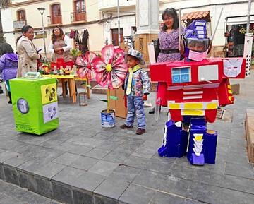 Feria ecológica del kínder Bolivia concientiza