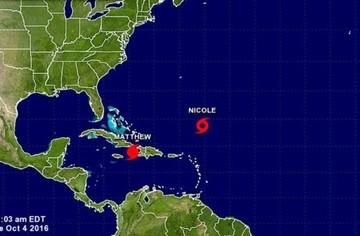 Tormenta Nicole recobra fuerza y puede convertirse hoy de nuevo en huracán