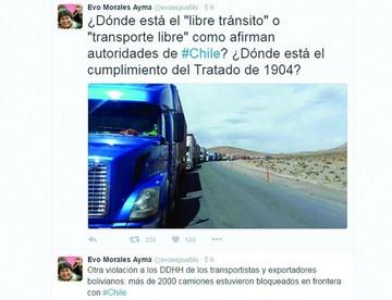Evo denuncia nueva violación a DDHH de transportistas en Chile