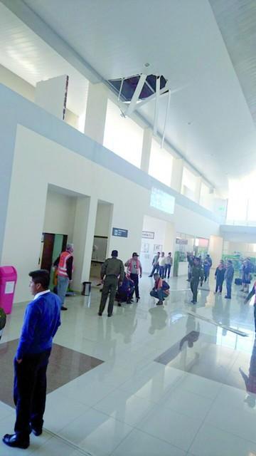 Cuestionan seguridad laboral tras hecho en  aeropuerto Alcantarí