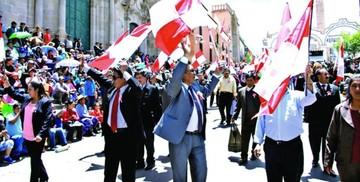 Potosí celebró su aniversario cívico dividido y sin Evo