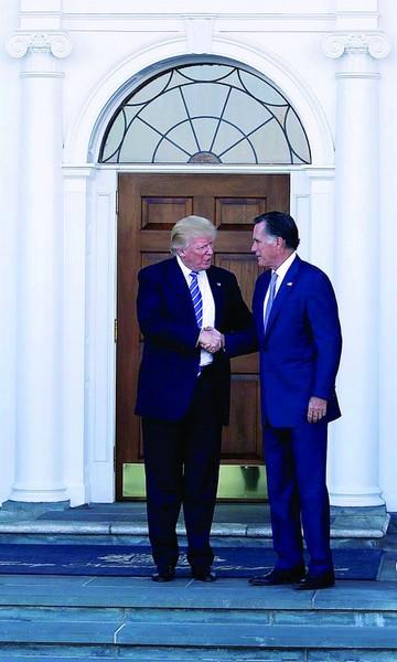 Trump y Romney  debatieron en  ansiado encuentro