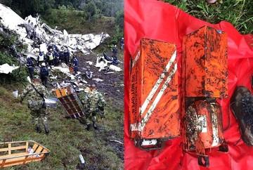 Encuentran las cajas negras del avión de Chapecoense accidentado en Colombia