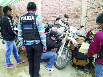 Diprove recupera una motocicleta robada en Sucre