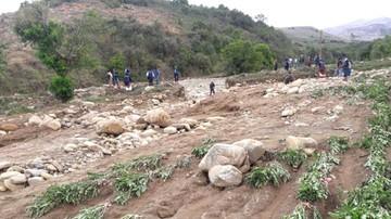 Granizada y riada afectan cosecha de dos municipios