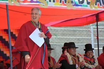 El Bala: García Linera sugiere a los Ponchos Rojos que se movilicen