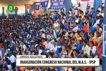 Según Rada, masivo congreso del MAS refuta supuesto debilitamiento del Gobierno