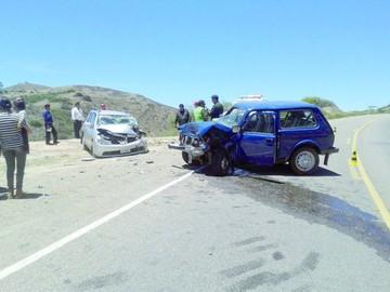 Aparatosa colisión en ruta a Alcantarí