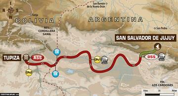 Pilotos corren la cuarta etapa del Dakar