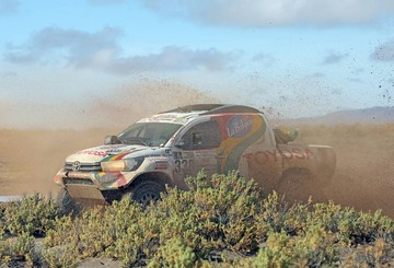 Team Bolivia en la recta final del Rally