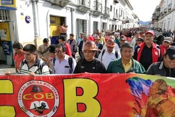 COB exige respuestas al Gobierno y advierte con huelga general indefinida