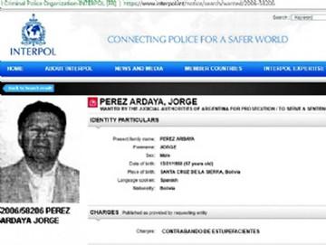 Jorge Pérez Valenzuela, buscado por la Interpol