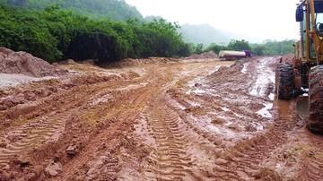 Lluvias dañaron caminos en la red departamental