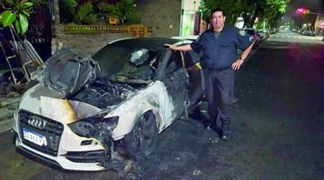 Incendian coche de futbolista de River Plate