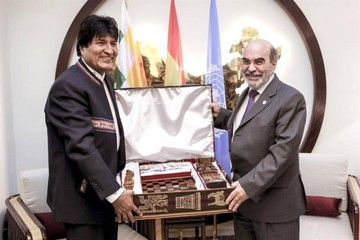 Evo Morales pide apoyo a la FAO para acceder a fondos e invertirlos en agua