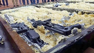 Decomisan armas provenientes de EEUU en Santa Cruz