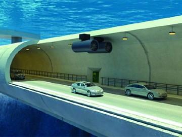 La primera carretera vehicular que flota en el mar