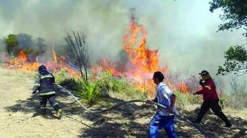 Incendios motivan alerta roja en centro de Chile