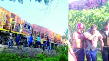 Colisión de dos trenes deja  heridos en Puerto Quijarro