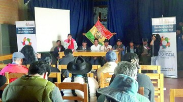Pacto fiscal: Mañana concluye la segunda etapa en Chuquisaca