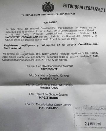"""TCP excluye del ordenamiento jurídico la figura del """"preaviso"""""""